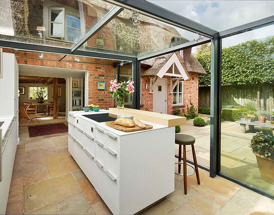 Glass Box Kitchen Lets In Natural Light And  ...